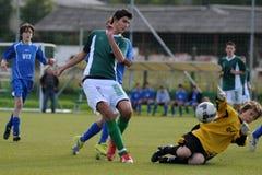 Gioco di calcio di Komlo - di Rakoczi U17 Fotografia Stock Libera da Diritti