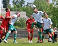Gioco di calcio di Mohacs - di Kaposvar Fotografie Stock Libere da Diritti