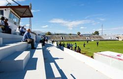 Gioco di calcio di calcio fra il CD Poblense ed il RCD Mallorca Fotografie Stock Libere da Diritti