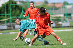 Gioco di calcio U19 Immagine Stock Libera da Diritti