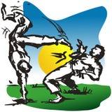 Gioco di Capoeira. Fotografie Stock