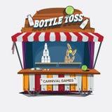 gioco di carnevale Tiro della bottiglia per il latte - Fotografia Stock Libera da Diritti