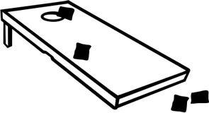 Gioco di Cornhole con le borse royalty illustrazione gratis