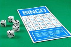 Gioco di gioco di rischio della scheda di Bingo Immagini Stock