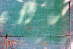 Gioco di giovani lepri del sole su un metallo Immagini Stock