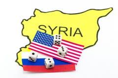Gioco di guerra Stati Uniti e Russia Fotografia Stock