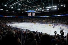 Gioco di hockey Fotografie Stock