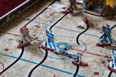 Gioco di hockey abbandonato della Tabella Fotografia Stock