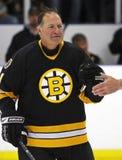 Gioco di hockey degli alunni di Boston Bruins Reggie Lemelin fotografia stock