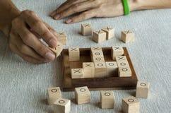 Gioco di legno del BUE del blocco Fotografia Stock Libera da Diritti