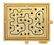 Gioco di legno del labirinto Fotografia Stock Libera da Diritti