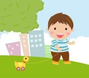 Gioco di Little Boy illustrazione di stock