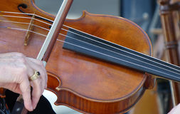 Gioco di musica del violino Immagini Stock Libere da Diritti