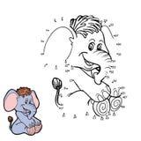 Gioco di numeri (elefante) royalty illustrazione gratis