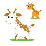 Gioco di numeri, giraffa Fotografia Stock Libera da Diritti