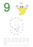 Gioco di numeri per figura nove royalty illustrazione gratis