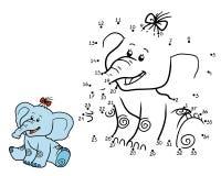 Gioco di numeri per i bambini elefante illustrazione - Colore per numeri per i bambini ...