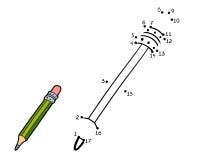 Gioco di numeri per i bambini (matita) illustrazione di stock