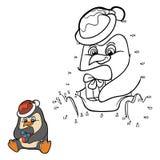 Gioco di numeri (pinguino) Fotografia Stock Libera da Diritti