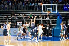 Gioco di pallacanestro Immagini Stock Libere da Diritti