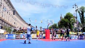 Gioco di pallacanestro, celebrazione di giorno di Europa, Kiev, Ukr Fotografia Stock
