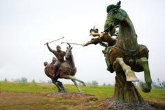 Gioco di polo in Cina antica Immagini Stock Libere da Diritti