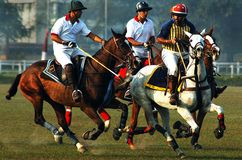 Gioco di polo dell'Kolkata-India Fotografie Stock