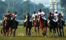 Gioco di polo dell'Kolkata-India Fotografia Stock