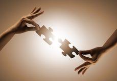 Gioco di puzzle Immagini Stock