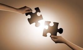 Gioco di puzzle Fotografie Stock