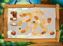 Gioco di puzzle con il tema della giungla Fotografie Stock
