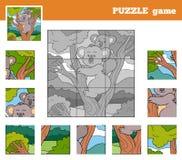 Gioco di puzzle per i bambini con gli animali (koala) Fotografia Stock