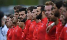 Gioco di rugby della Svizzera - della Polonia Fotografia Stock Libera da Diritti