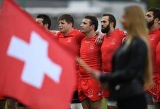 Gioco di rugby della Svizzera - della Polonia Fotografie Stock