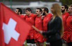 Gioco di rugby della Svizzera - della Polonia Immagini Stock Libere da Diritti