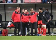 Gioco di rugby della Svizzera - della Polonia Immagine Stock