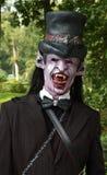 Gioco di ruolo del vampiro Fotografia Stock