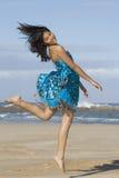 Gioco di salto felice Fotografia Stock Libera da Diritti