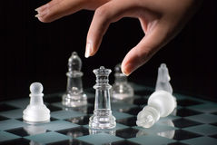 Gioco di scacchi Fotografia Stock