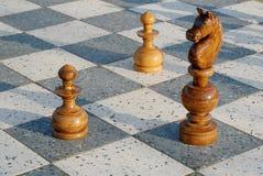 Gioco di scacchi esterno Fotografie Stock