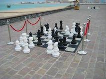 Gioco di scacchi esterno Fotografia Stock