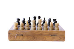 Gioco di scacchi isolato Fotografia Stock Libera da Diritti