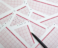 Gioco di scommessa di fortuna di lotteria del Lotto Immagini Stock Libere da Diritti