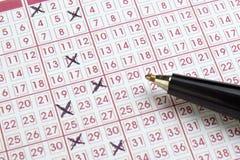 Gioco di scommessa di fortuna di lotteria del Lotto Immagine Stock Libera da Diritti