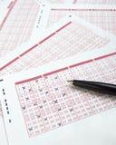Gioco di scommessa di fortuna di lotteria del Lotto Fotografia Stock