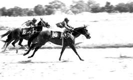 Gioco di sport di corsa di cavalli Immagini Stock Libere da Diritti