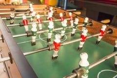 Gioco di tavola di calcio di calcio Fotografie Stock