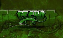 Gioco e youtube di Esport di logo del geco Immagini Stock