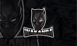 Gioco e youtube di Esport di logo di Wakanda Fotografie Stock