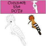 Gioco educativo: Colleghi i punti Bei sorrisi svegli dell'upupa royalty illustrazione gratis